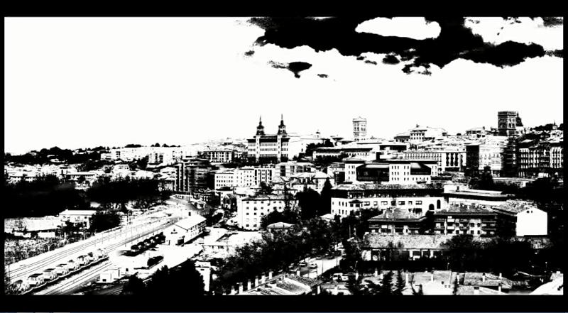 Video imágenes de Teruel en Blanco y negro