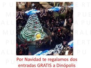 Por Navidad te regalamos dos entradas a Dinópolis